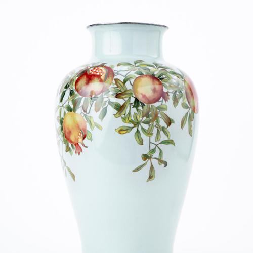 柘榴図花瓶 安藤製
